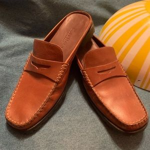 Cole Haan med brown leather penny mule loafer 10 B